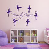 Born to Dance Wall Sticker - Purple