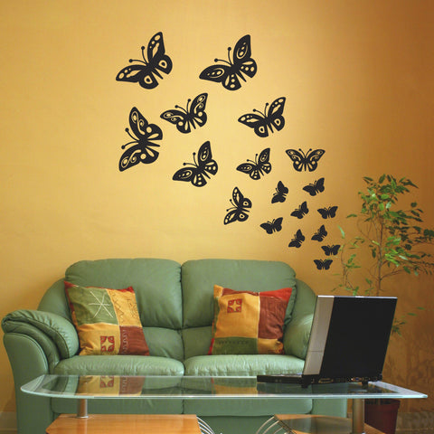 Butterfly Wall Stickers - Black