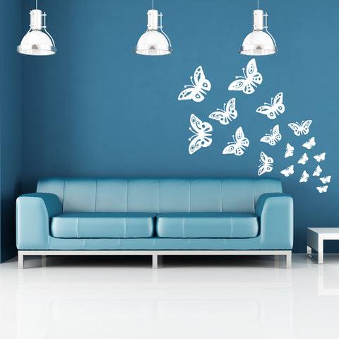 ... Butterfly Wall Stickers   White ...