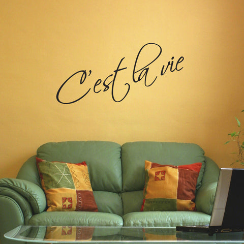 C'est La Vie Wall Sticker - Black