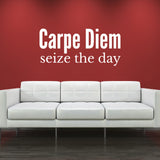 Carpe Diem Wall Sticker - Seize The Day - White