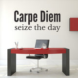 Carpe Diem Wall Sticker - Seize The Day - Black