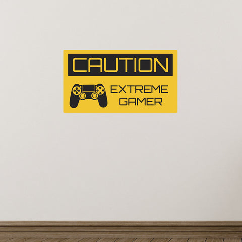 Caution Extreme Gamer Wall Sticker - Single Controller