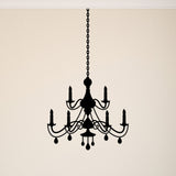 Chandelier Wall Sticker - French Baroque Style - Black