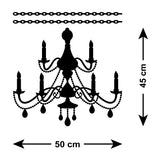 Chandelier Wall Sticker - French Baroque Style - Size Guide