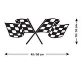 Chequered Flag Wall Sticker - Size Guide