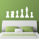 Chess Pieces Wall Stickers - White