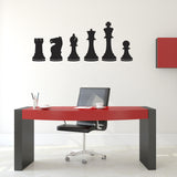 Chess Pieces Wall Stickers - Black
