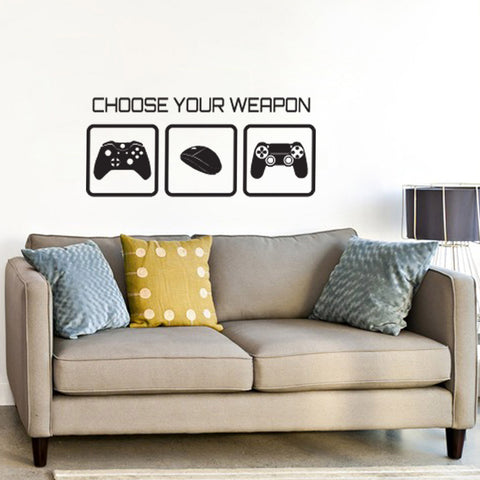 choose your weapon wall sticker - gaming decal – zygomax