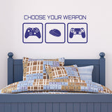 Choose Your Weapon Wall Sticker - Dark Blue