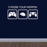 Choose Your Weapon Wall Sticker - White
