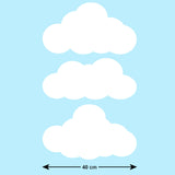 Sun and Clouds Nursery Wall Stickers - Cloud Sizes