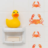 Craftstar Crab Stencils on tiles