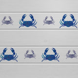 Craftstar Crab Stencil Set on Wooden Panels