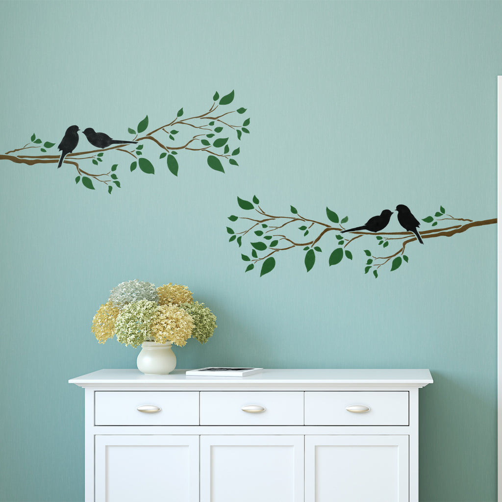 Zygomax wall stickers decals for your home car or business craftstar birds on a branch wall stencil amipublicfo Gallery