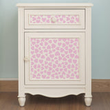 CraftStar Hearts Seamless Pattern Stencil on Furniture