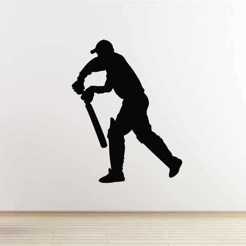 Cricketer Wall Sticker - Batsman Standing