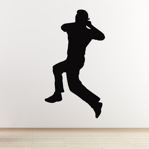 Cricket Wall Sticker - Spin Bowler