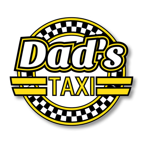 Dad's Taxi Car Sticker