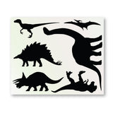 Dinosaur Silhouette Wall Stickers - Sheet Layout