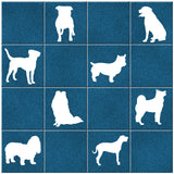 Dog Tile Stickers - White