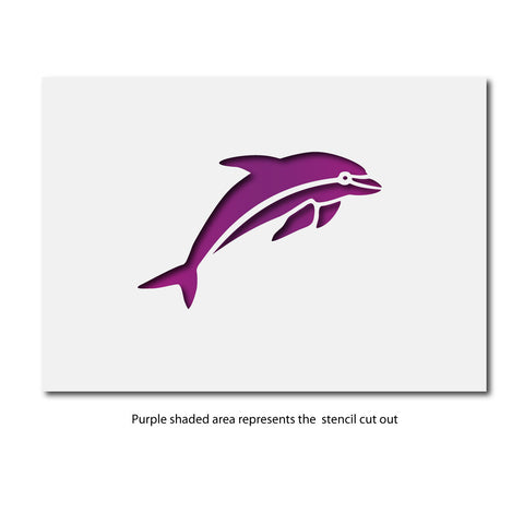 Craftstar dolphin stencil small craft template zygomax craftstar dolphin stencil layout pronofoot35fo Choice Image