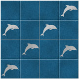 Dolphin Tile Stickers - Pack of 18 - Silver