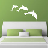 Dolphin Wall Stickers - Pod of 3 Dolphins - White