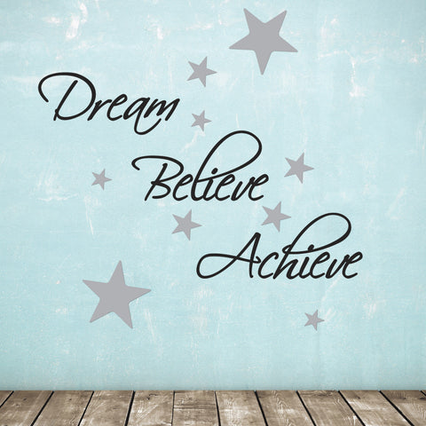 Dream Believe Achieve Wall Sticker