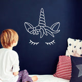 ZygoMax Dreaming Unicorn Wall Sticker - White