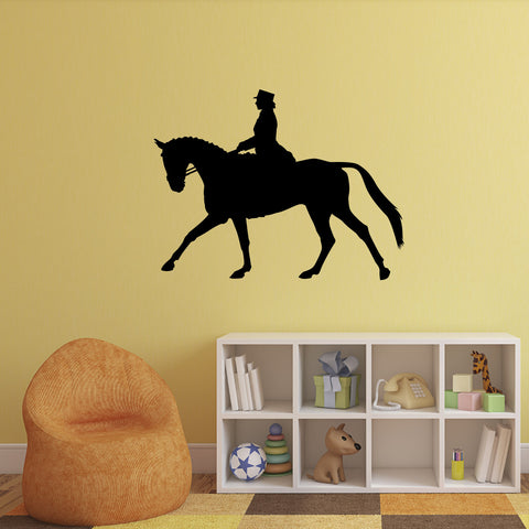 Dressage Horse Wall Sticker - Black