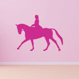 Dressage Horse Wall Sticker - Dark Pink