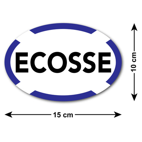 Ecosse Car Sticker with Scottish Saltire Border