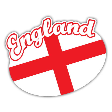 England Car Sticker with St George's Cross