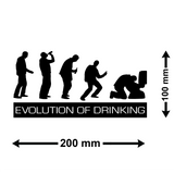 The Evolution of Drinking Car Sticker - Size Guide