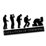 The Evolution of Drinking Car Sticker - Black