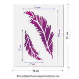 CraftStar Small Feather Stencil Size Guide