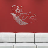 Feathers Appear When Angels Are Near Wall Sticker  - Silver
