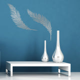 Feathers Wall Sticker Pack - Silver