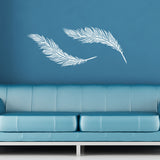 Feathers Wall Sticker Pack - White