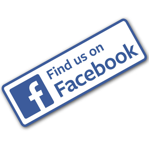 Find Us On Facebook Sign - Self Adhesive Car / Van Sticker