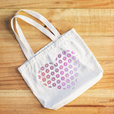 CraftStar Flower Pattern Heart Stencil on fabric bag