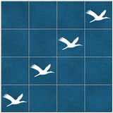 Flying Geese Tile Stickers - Pack of 18 - White