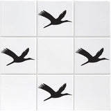 Flying Geese Tile Stickers - Pack of 18 - Black