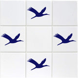 Flying Geese Tile Stickers - Pack of 18 - Dark Blue