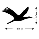 Flying Geese Tile Stickers - Pack of 18 - Size Guide