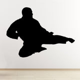 Flying Kick Karate Wall Sticker