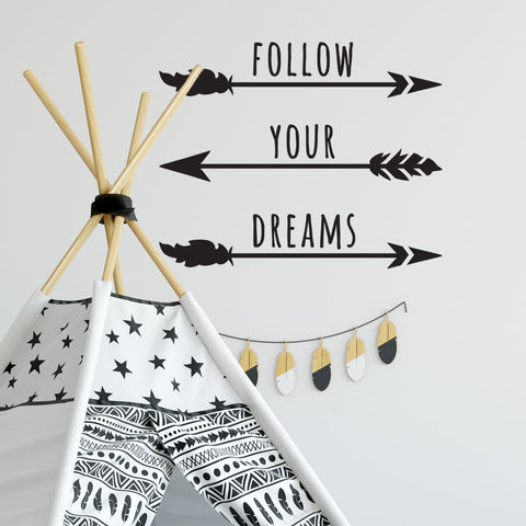 Zygomax Follow Your Dreams Wall Sticker