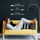 Zygomax Follow Your Dreams Wall Sticker in white