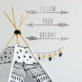 Zygomax Follow Your Dreams Wall Sticker in silver